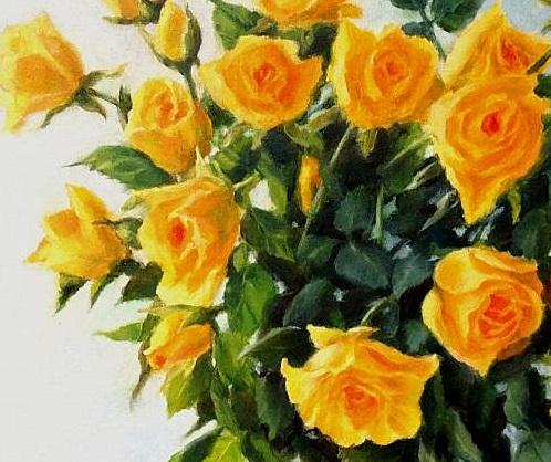 Слънчеви рози - картина - детайл 1