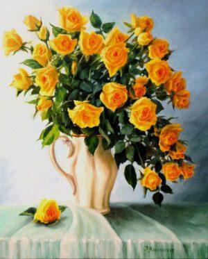 Слънчеви рози - картина