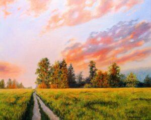 Облаци по залез - картина за стена 1