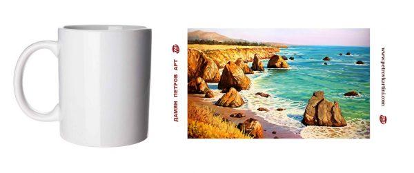 Нежен полъх - чаша с картина