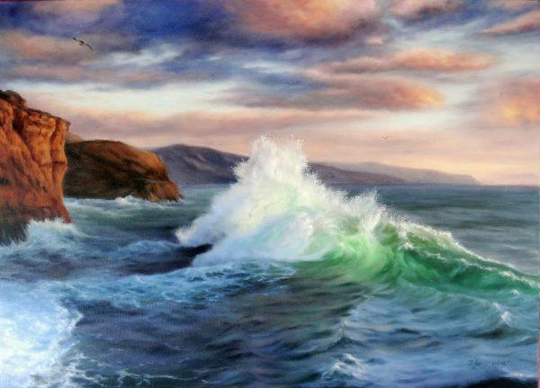Вълна до стръмния бряг