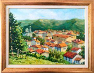 Поглед от високо - по картина на Борис Денев