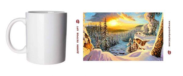 Ледено сияние - чаша с картина
