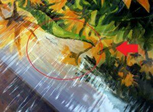 -платно-на-картина-1-300x219 Скъсано платно на картина - какво е решението?