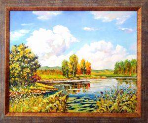 Слънчев ден край езерото