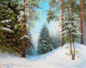 Зимно пладне в гората