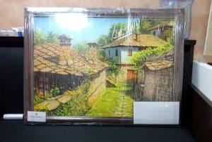 Картината-в-увита-прозрачно-фолио-300x202 Опаковане на Картина за подарък