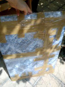 Картината-подготвяена-за-куриер-225x300 Опаковане на Картина за подарък