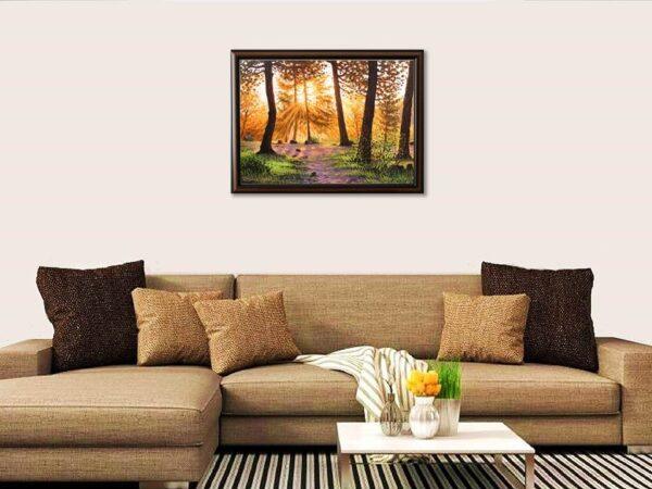 Утро в свещената гора - картина за стена
