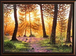 Утро в свещената гора - картина