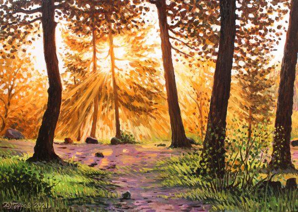 Утро в свещената гора