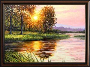 Тихата река - картина